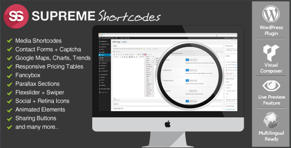 Supreme Shortcodes - WordPress Premium Plugin